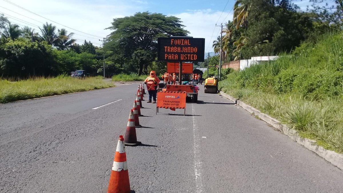 FOVIAL hace trabajos de reparación algunos puntos del occidente del país