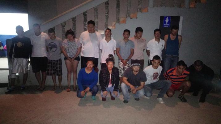 20 detenidos durante operativo policial realizado en el Departamento de Cabañas.