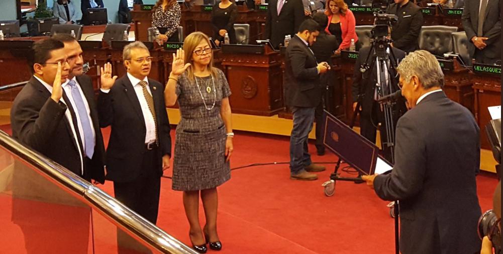Presidente de la Asamblea Legislativa juramenta Magistrados de la Corte Suprema de Justicia para ejercer funciones por un periodo de nueve  años .