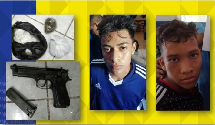 Detenidos con droga y arma de fuego ilegal
