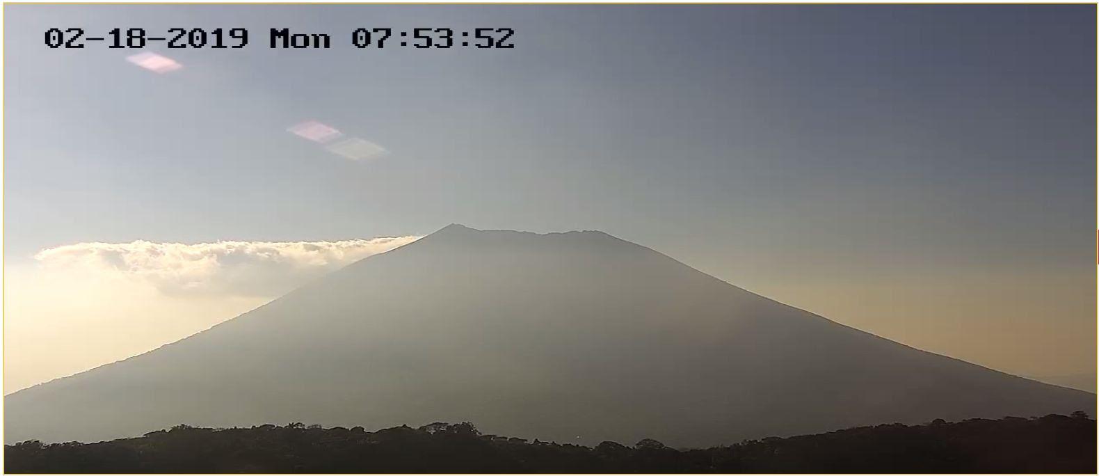 Disminuye actividad en el volcán Chaparrastique
