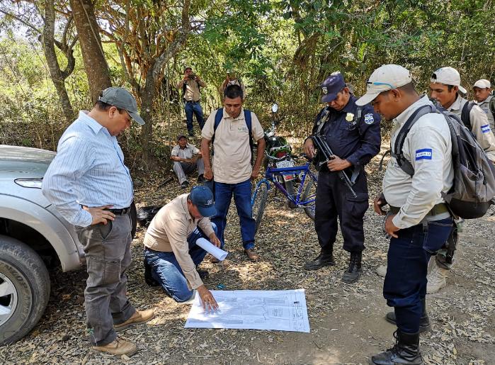 MARN, PNC y Fiscalía advierten sobre intento de usurpación de Área Natural Protegida El Chino, en Ahuachapan.
