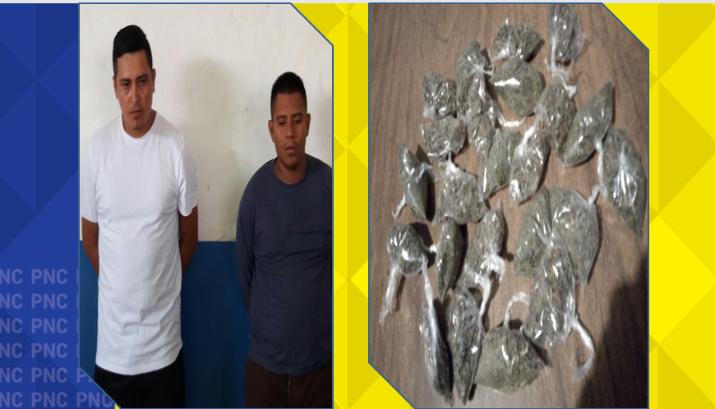 Extorsionista y distribuidor de drogas capturados en Morazán