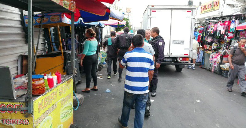 Policía desarrolla actividades preventivas en Centro Histórico capitalino