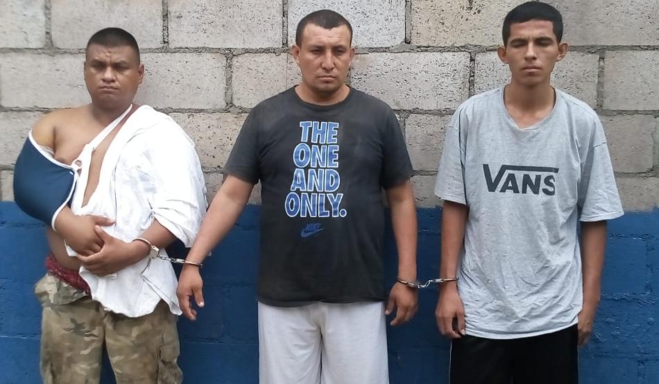 Policía captura a tres pandilleros acusados de homicidio