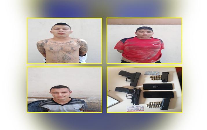 Detienen a pandilleros vinculados a robo en una vivienda