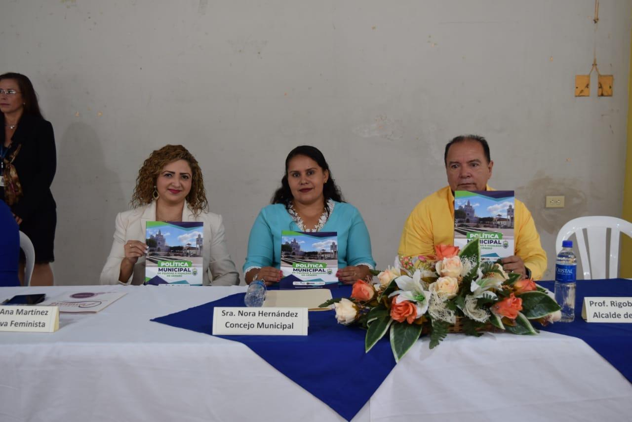 Alcaldía de Metapán y Colectiva de Mujeres Lanzan Política Municipal de Equidad e Igualdad de Género.