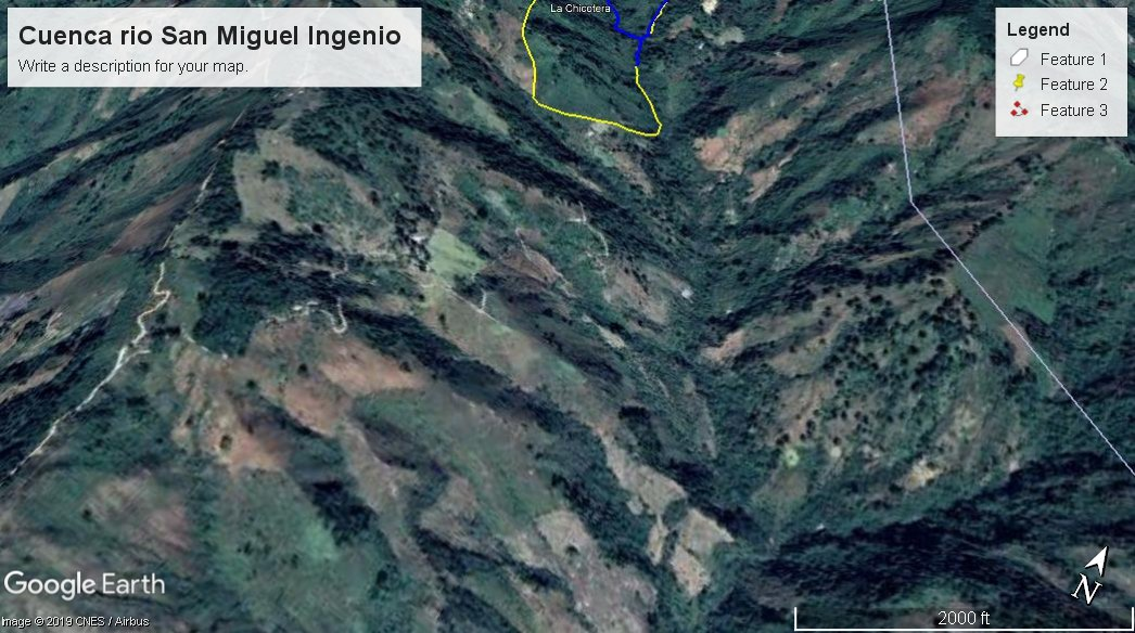 Montecristo en El Salvador uno de los mas grandes reservorios de agua en el pais.
