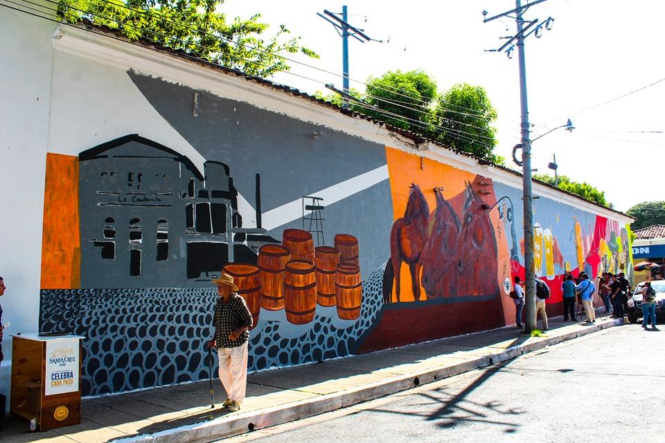Mural Barrio Santa Cruz es inaugurado por La Constancia