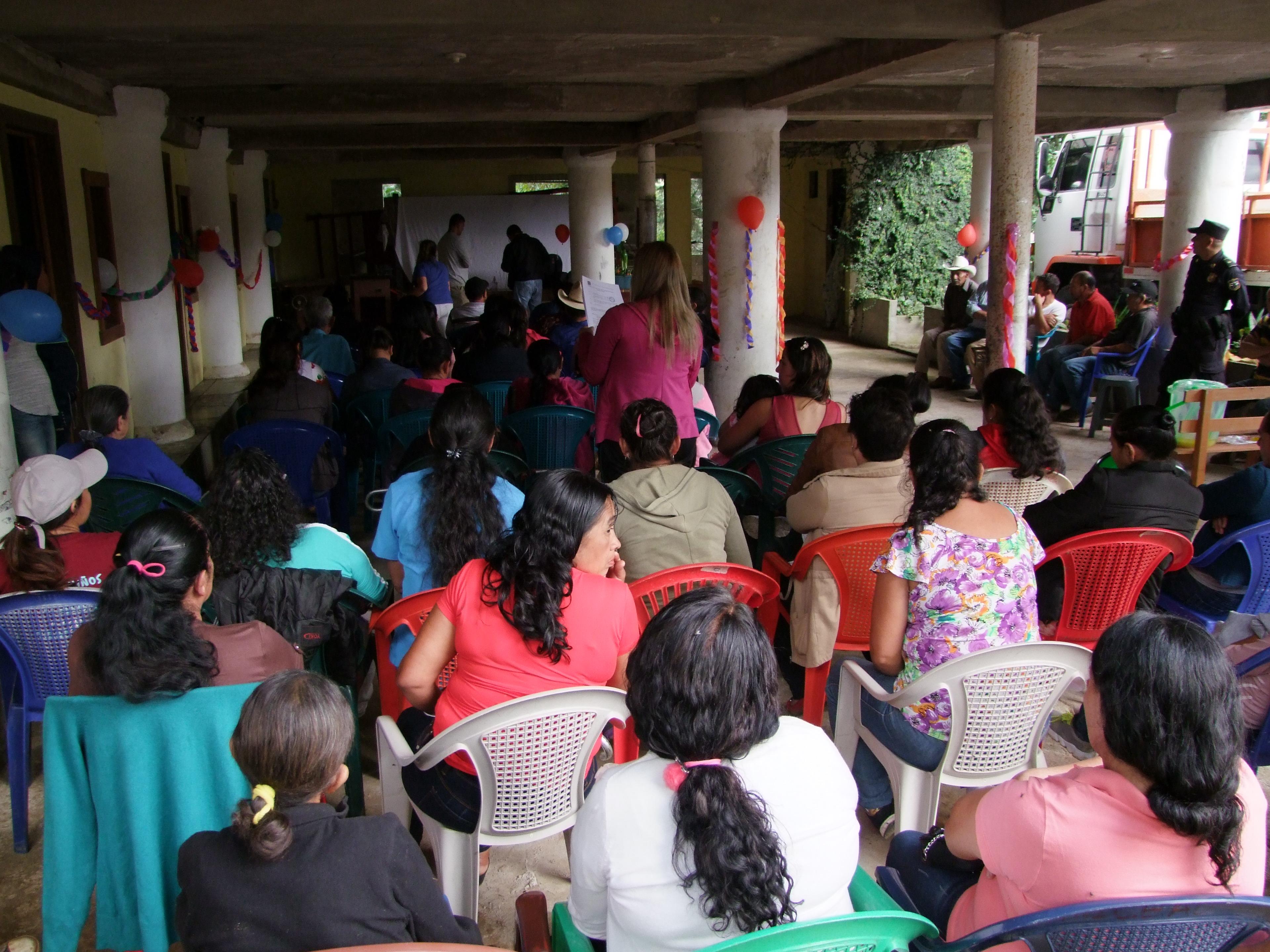 Plan Trifinio presente en reunión de Asamblea General de la ADESCO del cantón Las Pilas