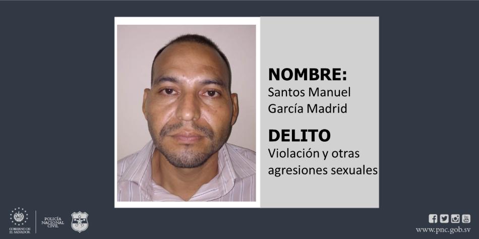 Policía de San Miguel captura en Ahuachapán a exrecluso por violación
