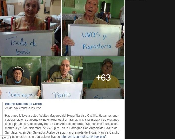 Hogar de ancianos Narcisa Castillo, aclara