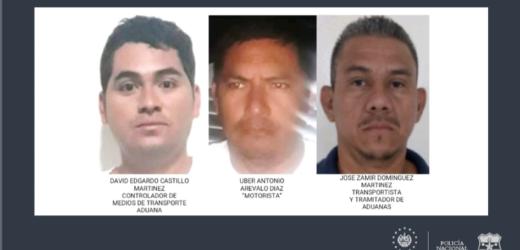 Policía captura a encomenderos por evadir en aduana el pago de $1.5 millones