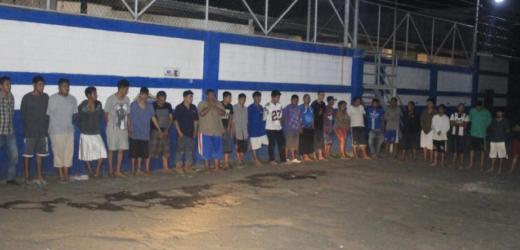 Policía captura durante operativo en Sonsonate a 36 terroristas por homicidio y privación de libertad