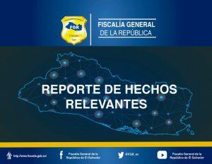 Fiscalía General de la República informa sobre hechos relevantes con audiencias, condenas y homicidios