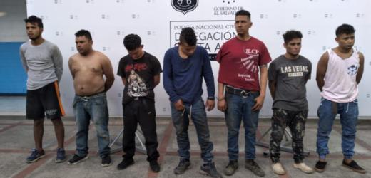 os policías lesionados tras agresión ilegítima y nueve pandilleros detenidos en Santa Ana