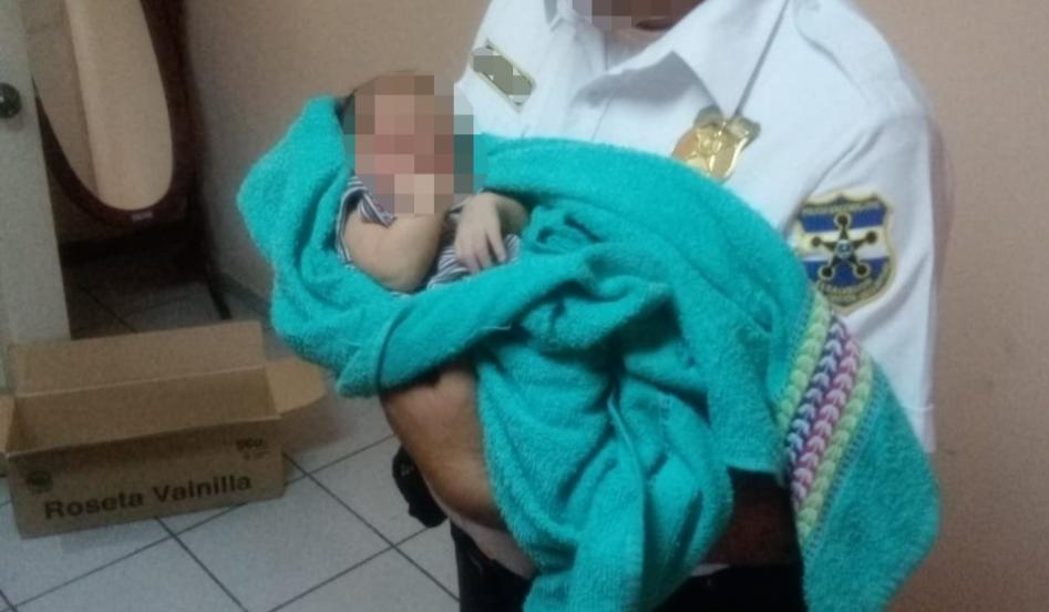 Policía localiza bebé recién nacido en Chalchuapa