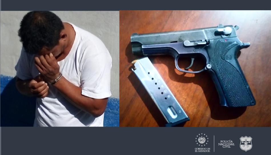 Policía captura en Usulután a sujeto con un arma de fuego ilegal