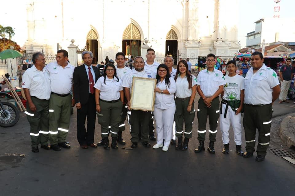 Reconocen labor de Cruz Verde Salvadoreña seccional Santa Ana