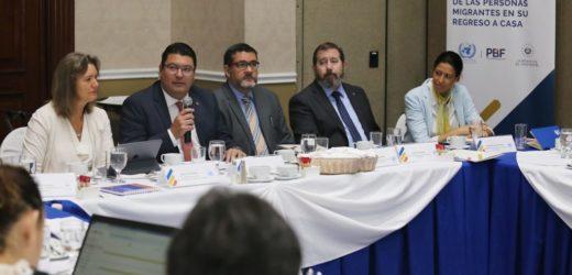 Gobierno de El Salvador y Naciones Unidas buscan beneficiar a migrantes retornados para su reinserción al país