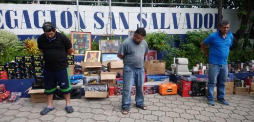 Policía captura a banda que hurtaba en San Salvador durante la cuarentena por la COVID-19
