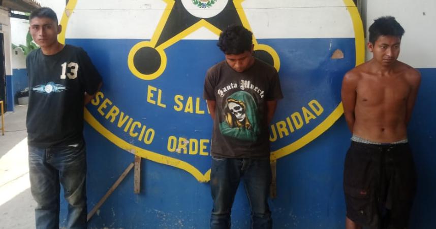 Policía captura en Ahuachapán a cuatro miembros de una agrupación delictiva tras atentado armado