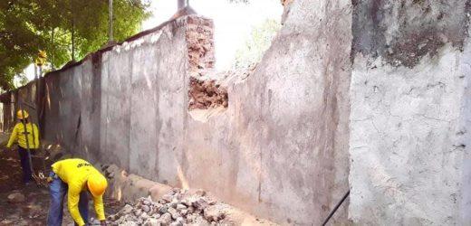 Levantan muro perimetral del HNSJDD
