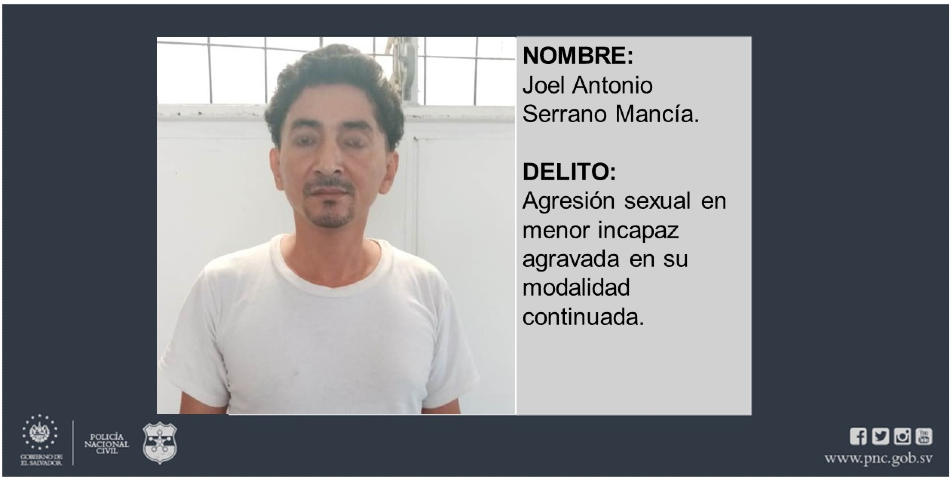 Policía captura a sujeto que abusaba sexualmente de una menor en Ciudad Delgado