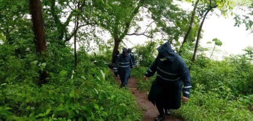 Policía verifica situación de ríos y quebradas en el departamento de La Paz a raíz de las intensas lluvias