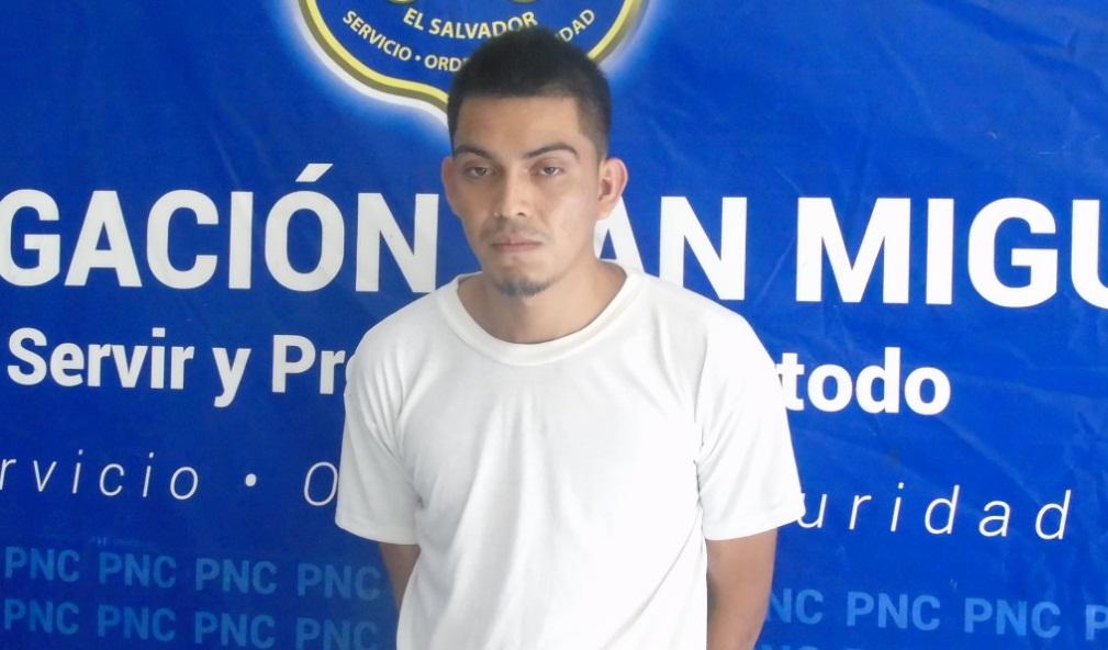 Policía arresta a pandillero buscado por homicidio en San Miguel