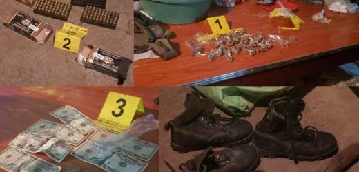 PNC localiza municiones y droga en vivienda en Santa Ana