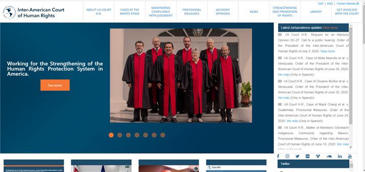 Corte Interamericana de Derechos Humanos presenta su nuevo Sitio
