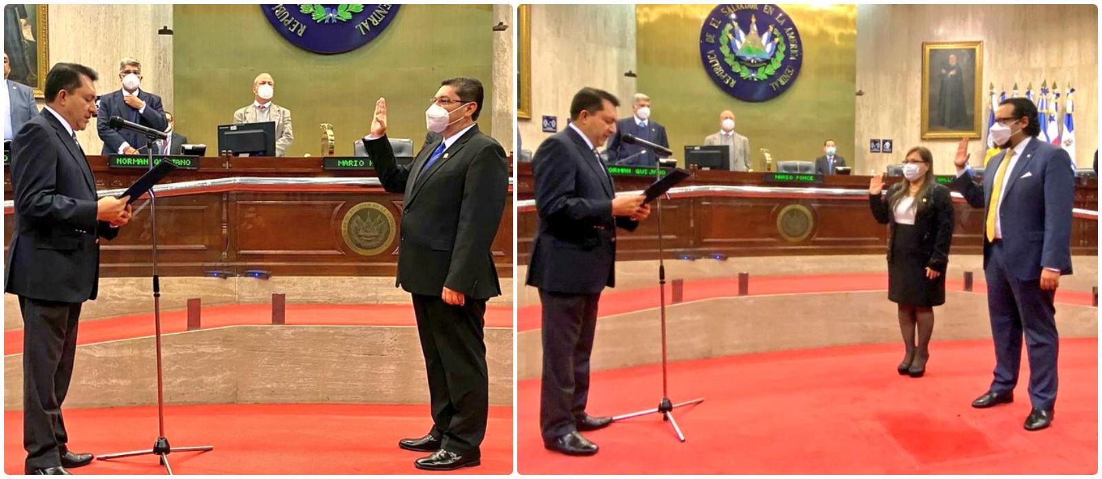 Eligen y juramentan a presidente y magistrados de la Corte de Cuentas de la República para el período 2020-2023