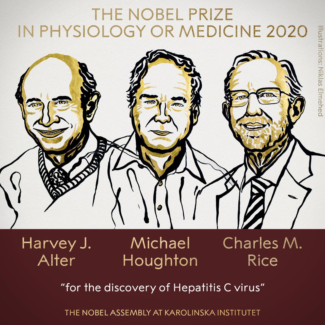 Premio Nobel de Medicina a cientificos por cura a la Hepatitis C