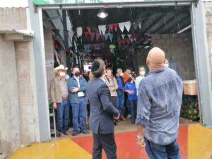 El corte de la cinta de inauguración del Mercado Jerusalem, estuvo a cargo del alcalde y el rabino