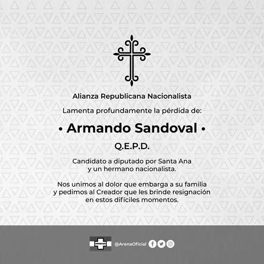 Fallece candidato a diputado por Santa Ana