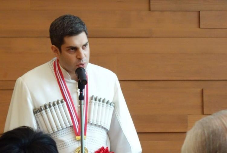 Ceremonia del Premio Internacional de Cultura Higashi-Kuninomiya: 9 personas recibieron el premio, incluido el Sr. Teimuraz Lezhava, «Charge d'Affaires» de la Embajada de Georgia en Japón