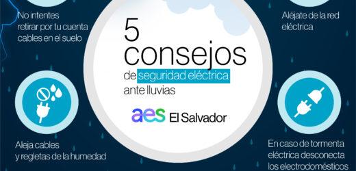AES brinda consejos de seguridad eléctrica ante lluvias